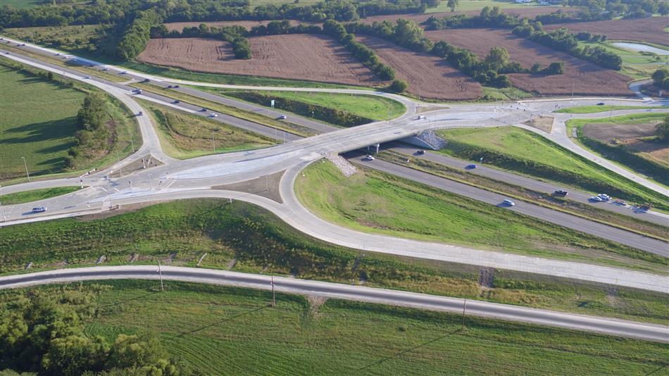 Peculiar Way Interchange Completed